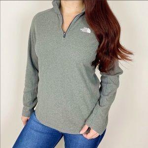 THE NORTH FACE Grey 1/4 Zip Fleece Pullover Jacket
